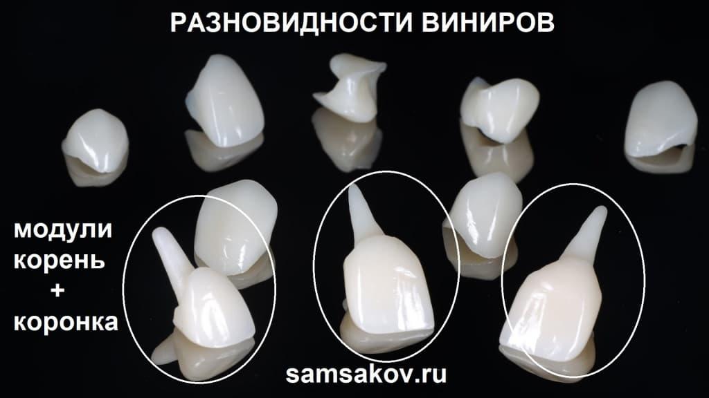 Фото зубных модулей с корнем зуба